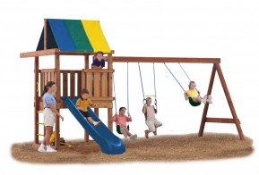 Just add wood, slide, and wood screws to build this fully customizable play set