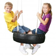 Made with heavy-duty plastic to support two children. Max Weight: 115 lbs.