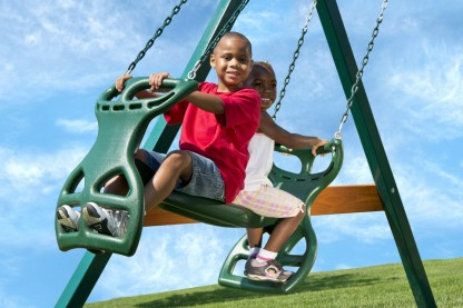 Image for With our swing set gliders, the imagination of your child will travel great lengths in your own backyard.