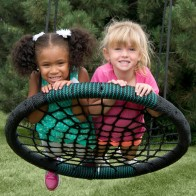 This unique swing helps build social skills and teamwork.