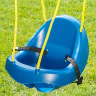 Contoured high back supports the neck and head of toddlers.