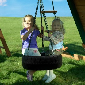 Image for Large tire swing with 360 degrees of swiveling motion