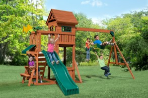 The Playful Palace comes with accessories, slides & swings to keep kids entertained all day.