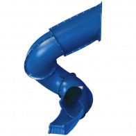 Children will love the exciting twisting action of this bold, blue tube slide.