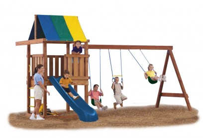 Image for Just add wood, slide, and wood screws to build this fully customizable play set