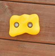 Heavy duty yellow climbing rocks