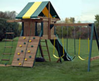 backyard play sets installation