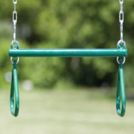 Trapeze bar with rings for swing sets